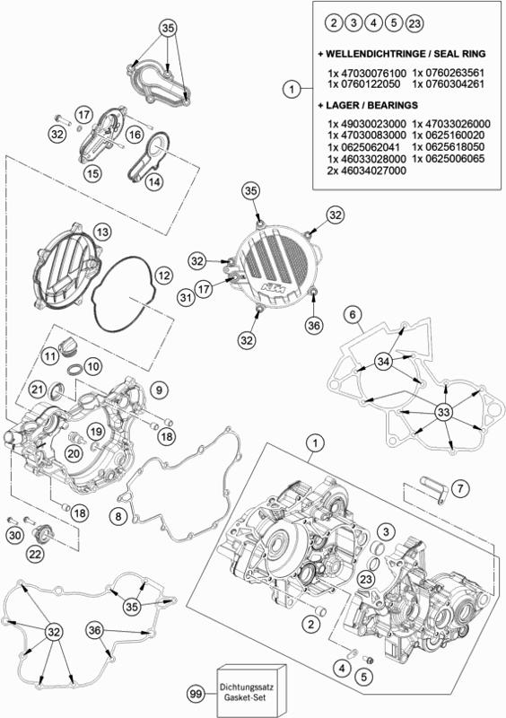 2018 KTM 85 SX 17/14 (EU) ENGINE CASE Parts Diagram - Motorcycles, Parts &  Accessories - Mototech Motorcycle TechnologyMototech